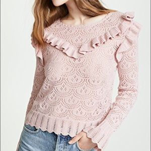 NWT Natalie Sweater Love Shack Fancy rose small
